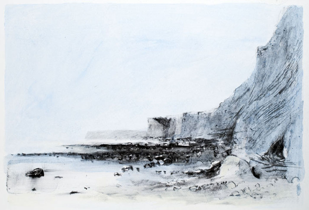 Artwork - Birling Gap mixed media on paper Drawing | Stephen Robson - mixed media on paper