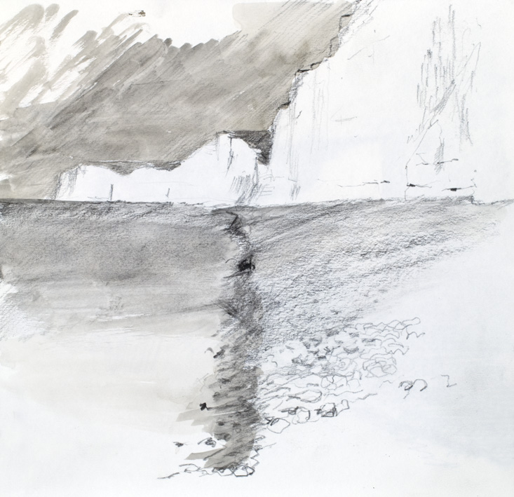 Artwork - Birling Gap Sketchbook Graphite on paper Drawing | Stephen Robson - Graphite on paper
