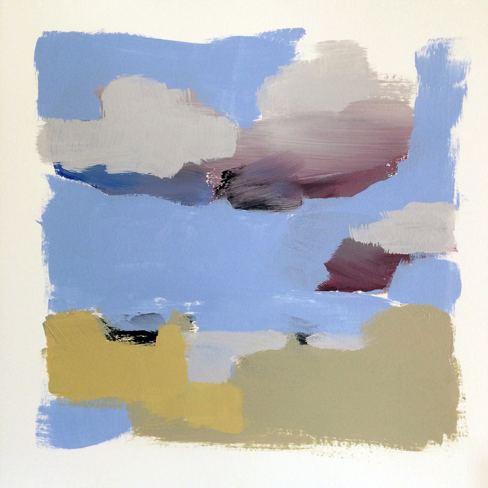 Artwork - Cloud Shadow acrylic on card Drawing | Stephen Robson - acrylic on card