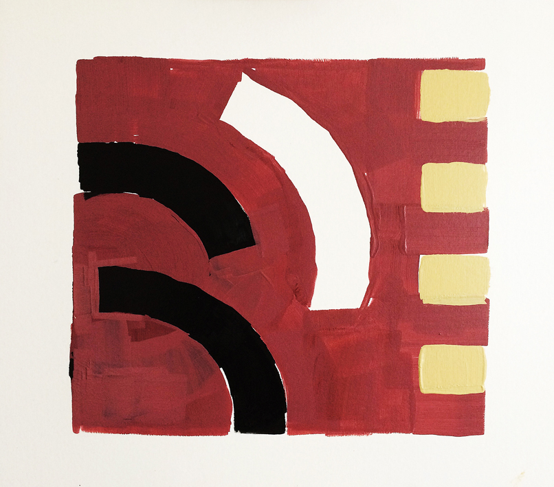 Artwork - Corner acrylic on card Drawing | Stephen Robson | Buy Today! - acrylic on card