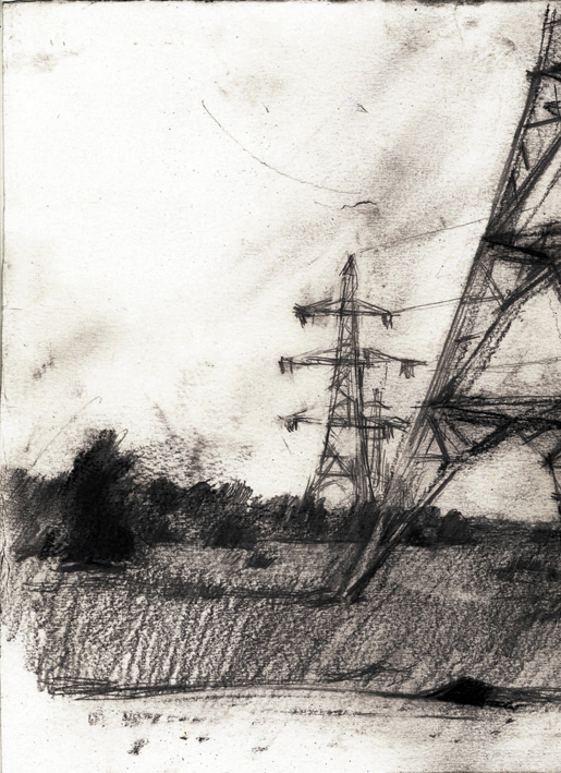 Artwork - Gravesend To Rochester graphite Drawing | Stephen Robson - graphite