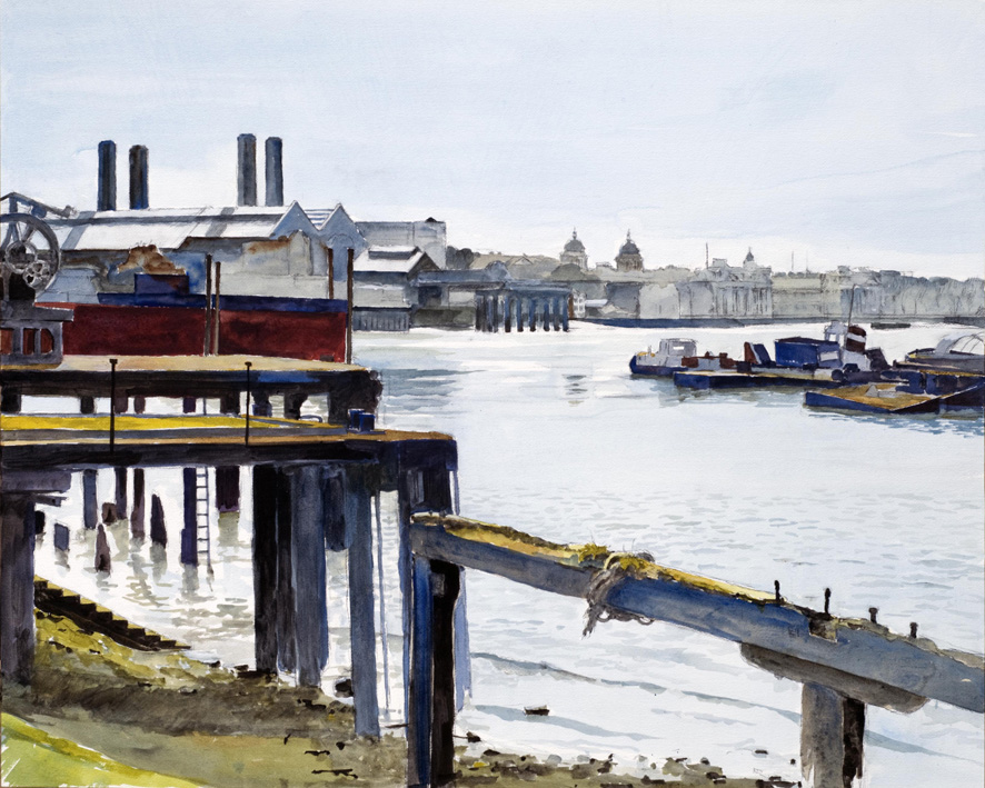 Artwork - Greenwich Reach Watercolour Drawing | Stephen Robson - Watercolour