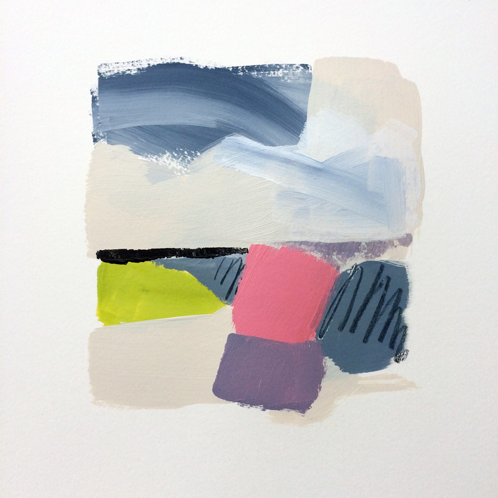 Artwork - Widening Horizon acrylic on card Drawing | Stephen Robson - acrylic on card