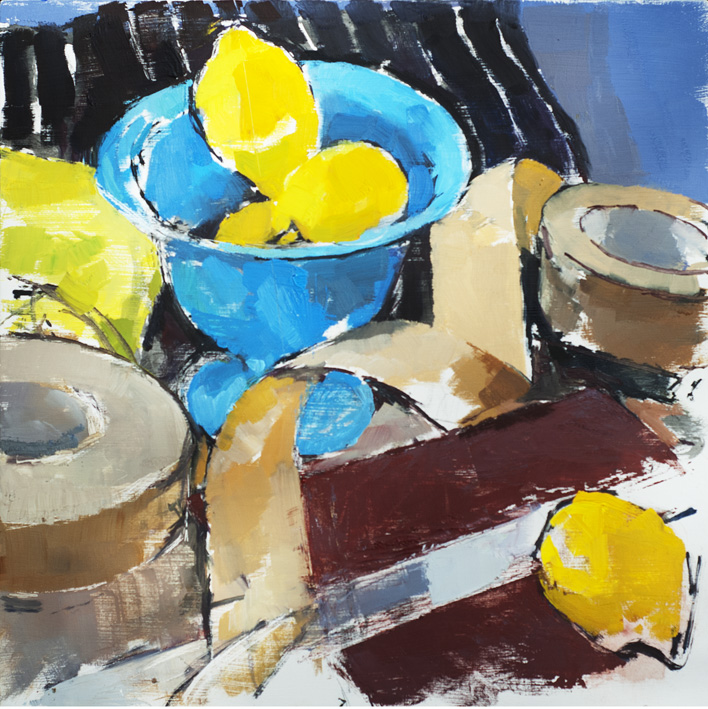 Artwork - Blue Bowl Oil on panel Painting | Stephen Robson - Oil on panel