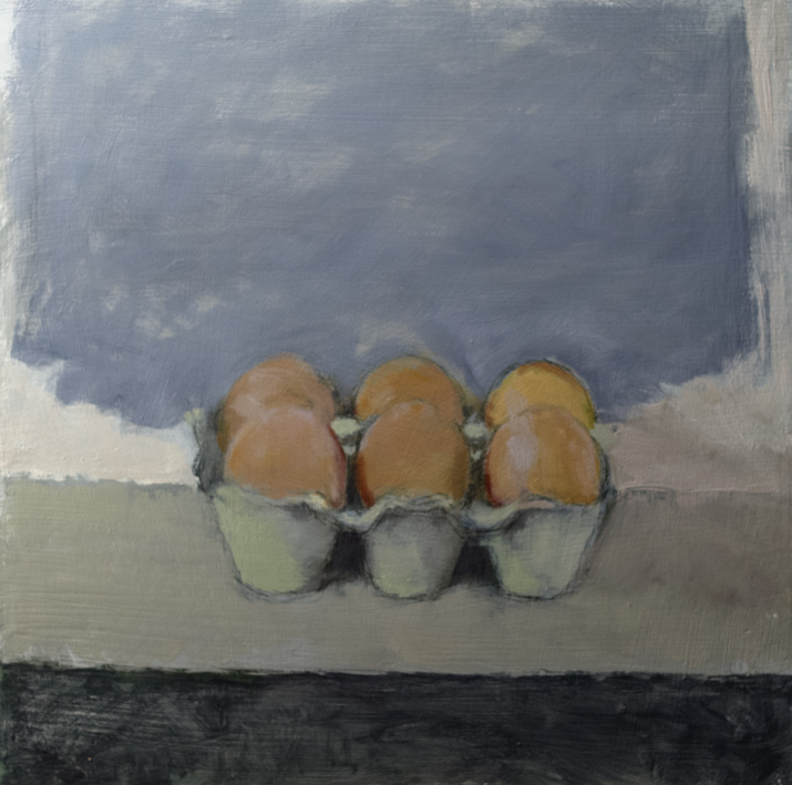 Artwork - Eggs On Tray Oil and Graphite on panel Painting | Stephen Robson - Oil and Graphite on panel