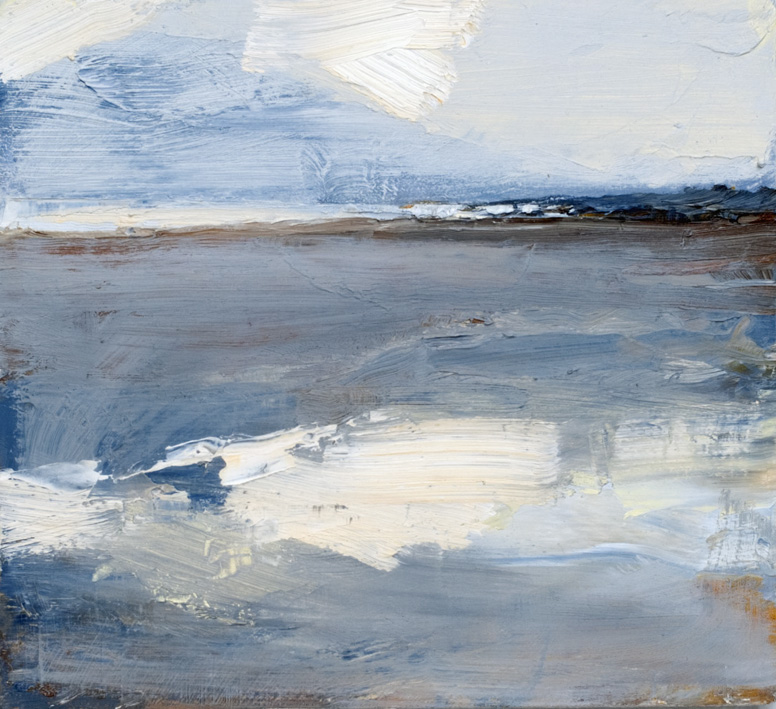 Artwork - Hunstanton Sands Oil on Board Painting | Stephen Robson - Oil on Board
