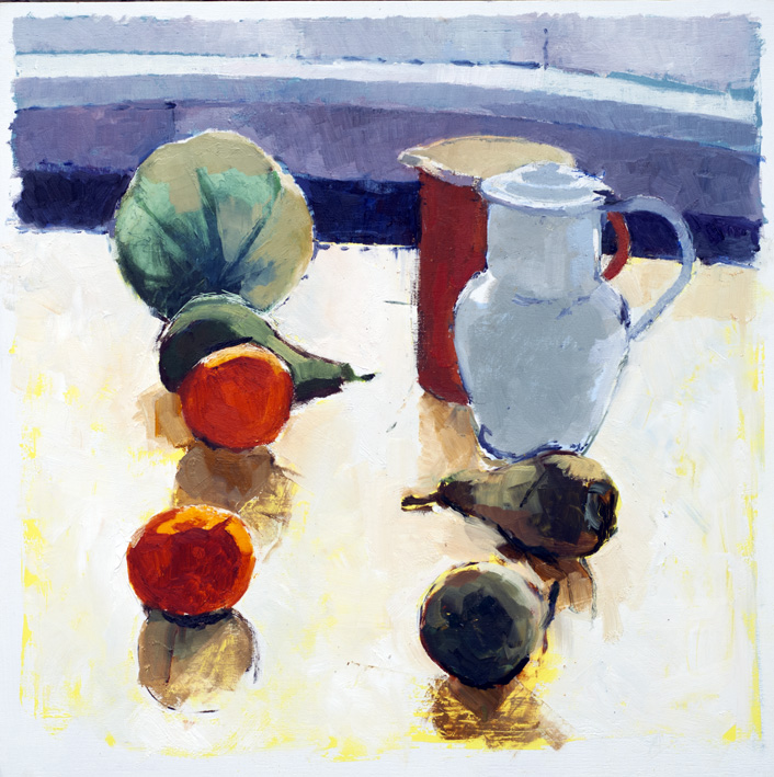 Artwork - Lemon Table (Ver 2) Oil on Panel Painting | Stephen Robson - Oil on Panel