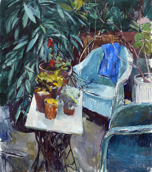 Artwork - London Garden Oil on canvas Painting | Stephen Robson - Oil on canvas