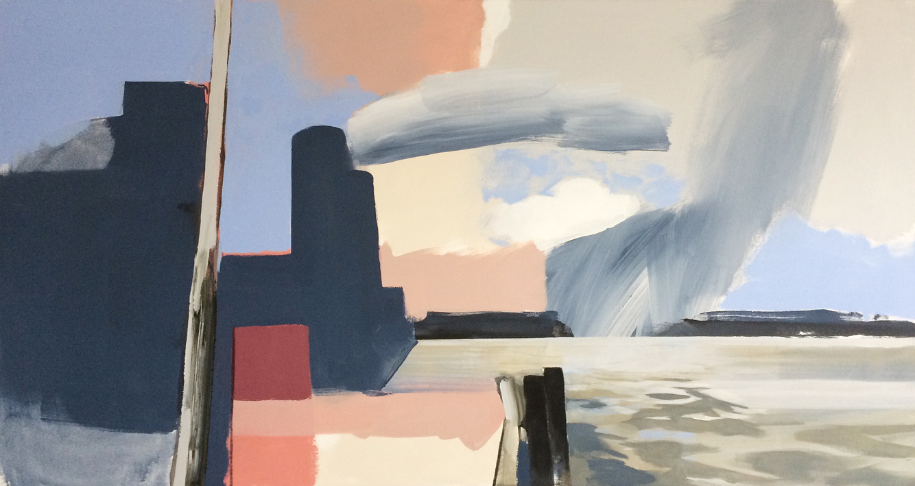 Artwork - Thames Path acrylic on canvas Painting | Stephen Robson | Buy Today! - acrylic on canvas