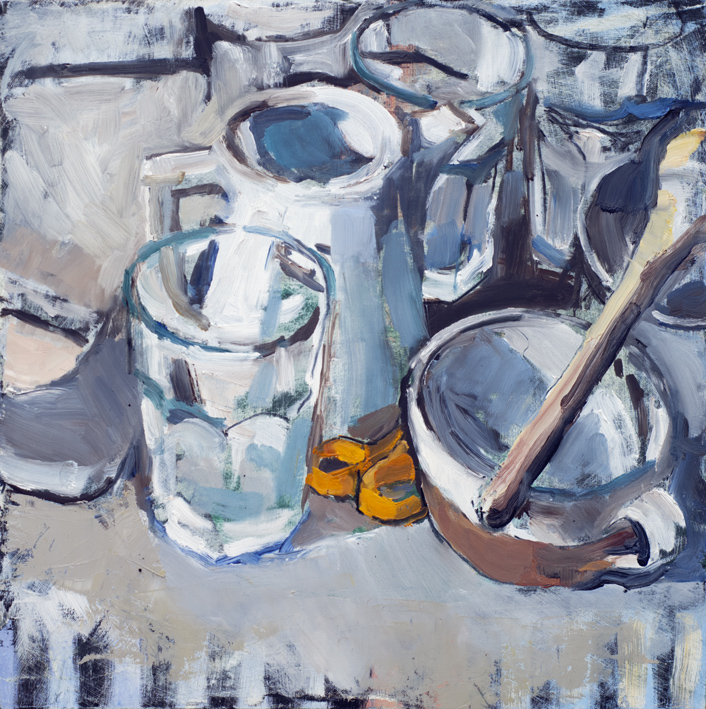 Artwork - Washing Up Oil on board Painting | Stephen Robson - Oil on board
