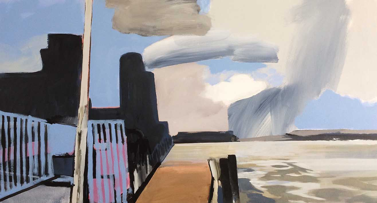 Artwork - Wide Thames Path acrylic on canvas Painting | Stephen Robson | Buy Today! - acrylic on canvas