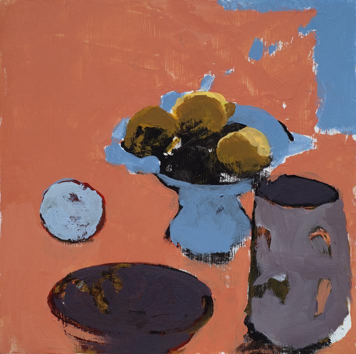 Artwork - Blue Orange acrylic on panel Painting   Stephen Robson - acrylic on panel