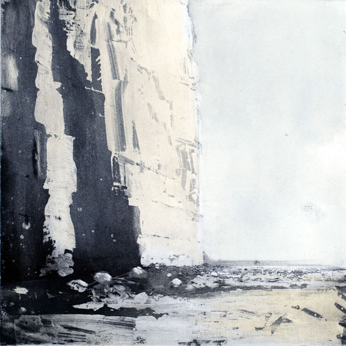 Artwork - Chalk Cliffs Etching and monoprint Print | Stephen Robson - Etching and monoprint