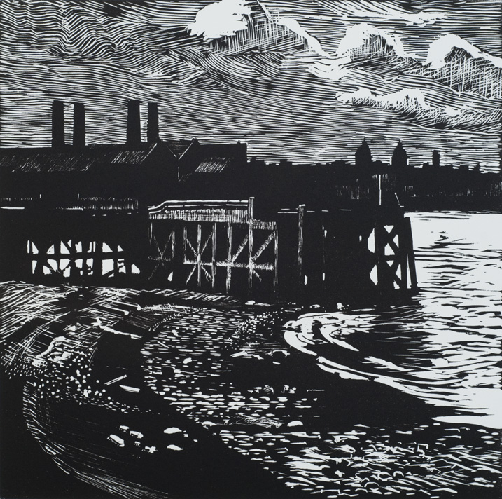 Artwork - Greenwich Reach Linocut Print | Stephen Robson - Linocut
