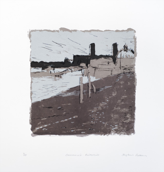 Artwork - Greenwich Riverside Screenprint Print | Stephen Robson | Buy Today! - Screenprint