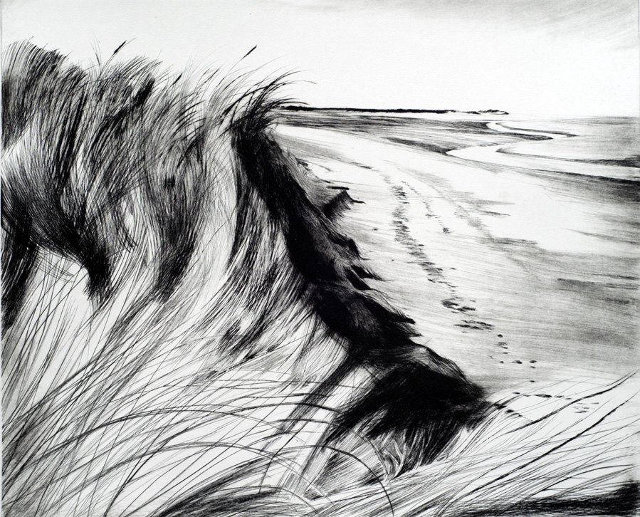 Artwork - Holkham Bay Drypoint Print | Stephen Robson - Drypoint