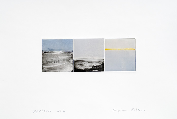 Artwork - Horizon No.5 Drypoint and monoprint Print | Stephen Robson - Drypoint and monoprint