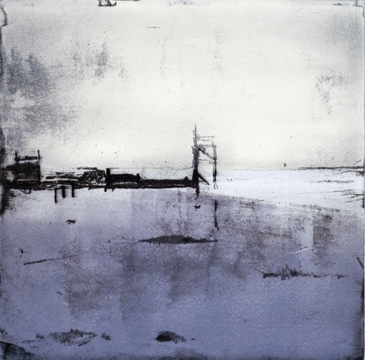 Artwork - Jetty Etching and monoprint Print | Stephen Robson - Etching and monoprint