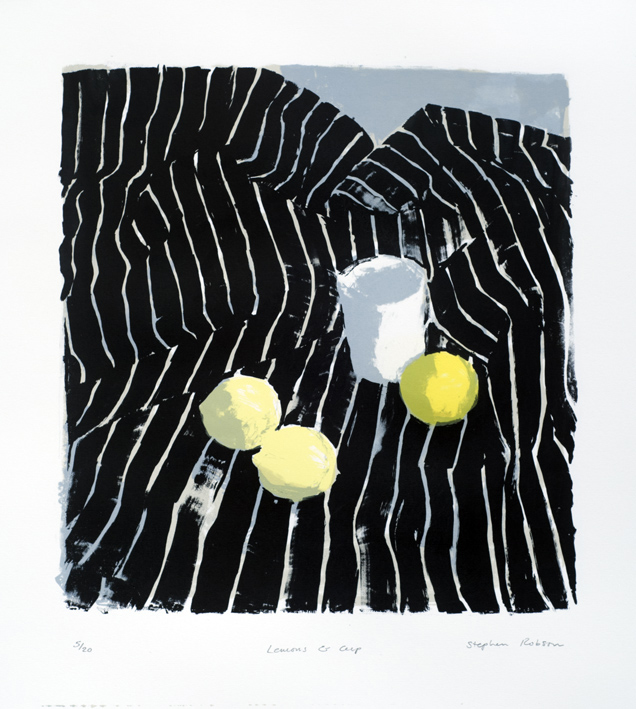 Artwork - Lemons And Cup Screenprint Print | Stephen Robson - Screenprint