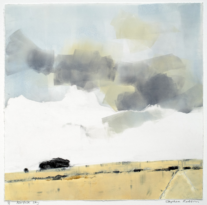 Artwork - Norfolk Sky Monoprint Print | Stephen Robson - Monoprint