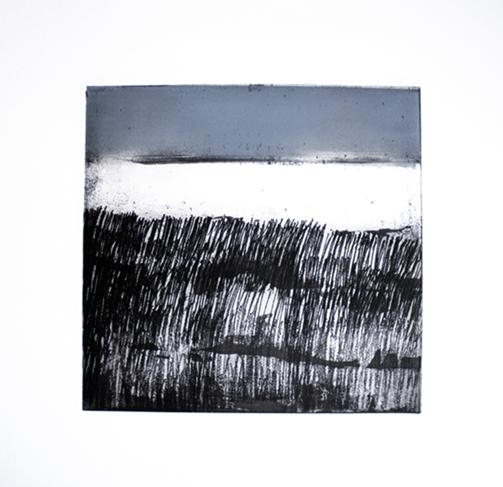 Artwork - North Sea Etching and monoprint Print | Stephen Robson - Etching and monoprint