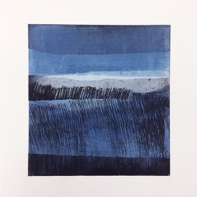 Artwork - NorthSea Monoprint Etching Print | Stephen Robson - Etching