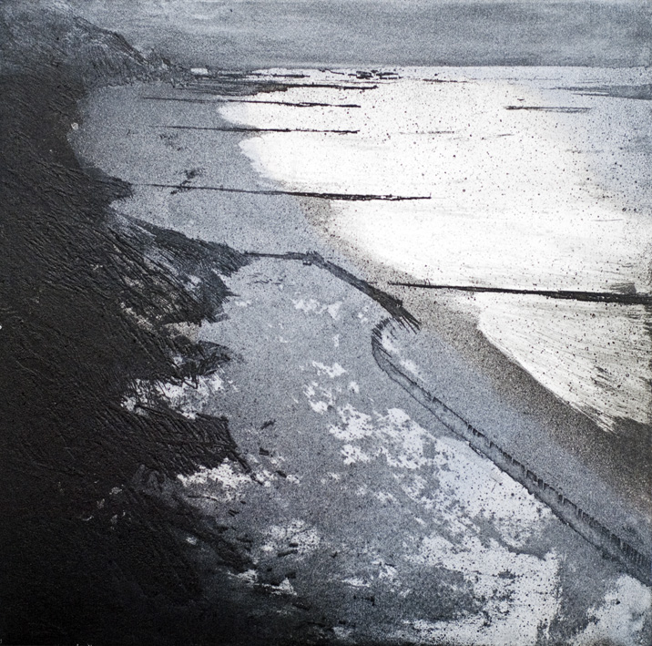 Artwork - Overstrand Cliffs Etching  Print | Stephen Robson - Etching