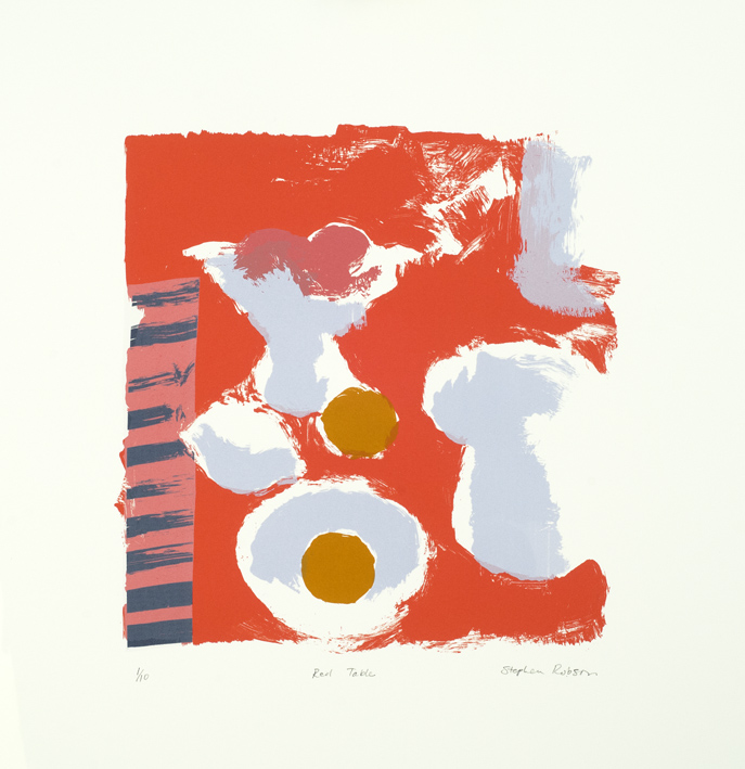 Artwork - Red Table Screenprint Print | Stephen Robson - Screenprint