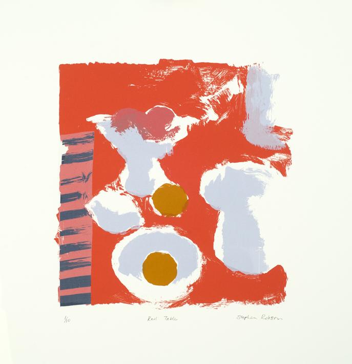 Artwork - Red Table Screenprint Print | Stephen Robson - Screenprint