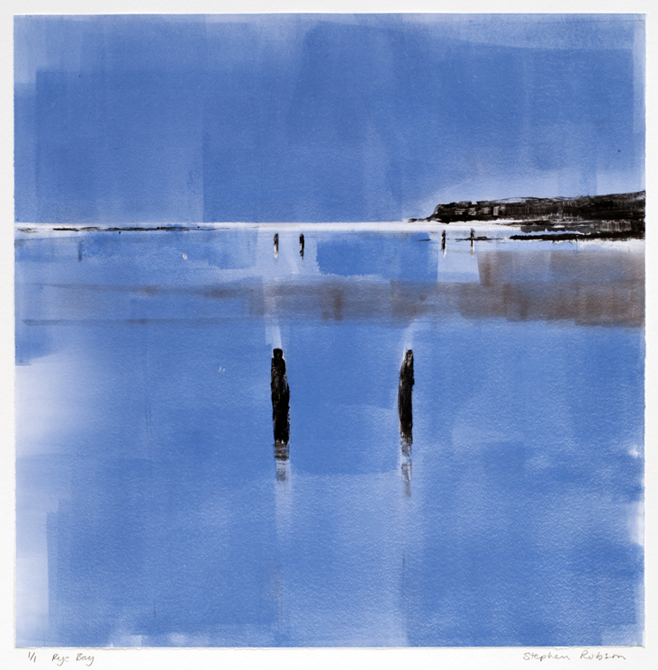 Artwork - Rye Bay Monoprint Print | Stephen Robson - Monoprint