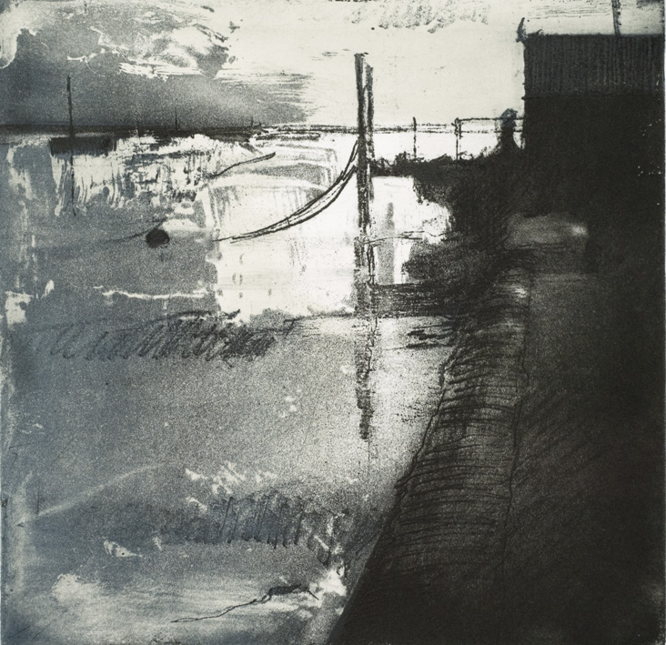Artwork - Spring Tide, Wells Etching Etching and monoprint Print | Stephen Robson - Etching and monoprint