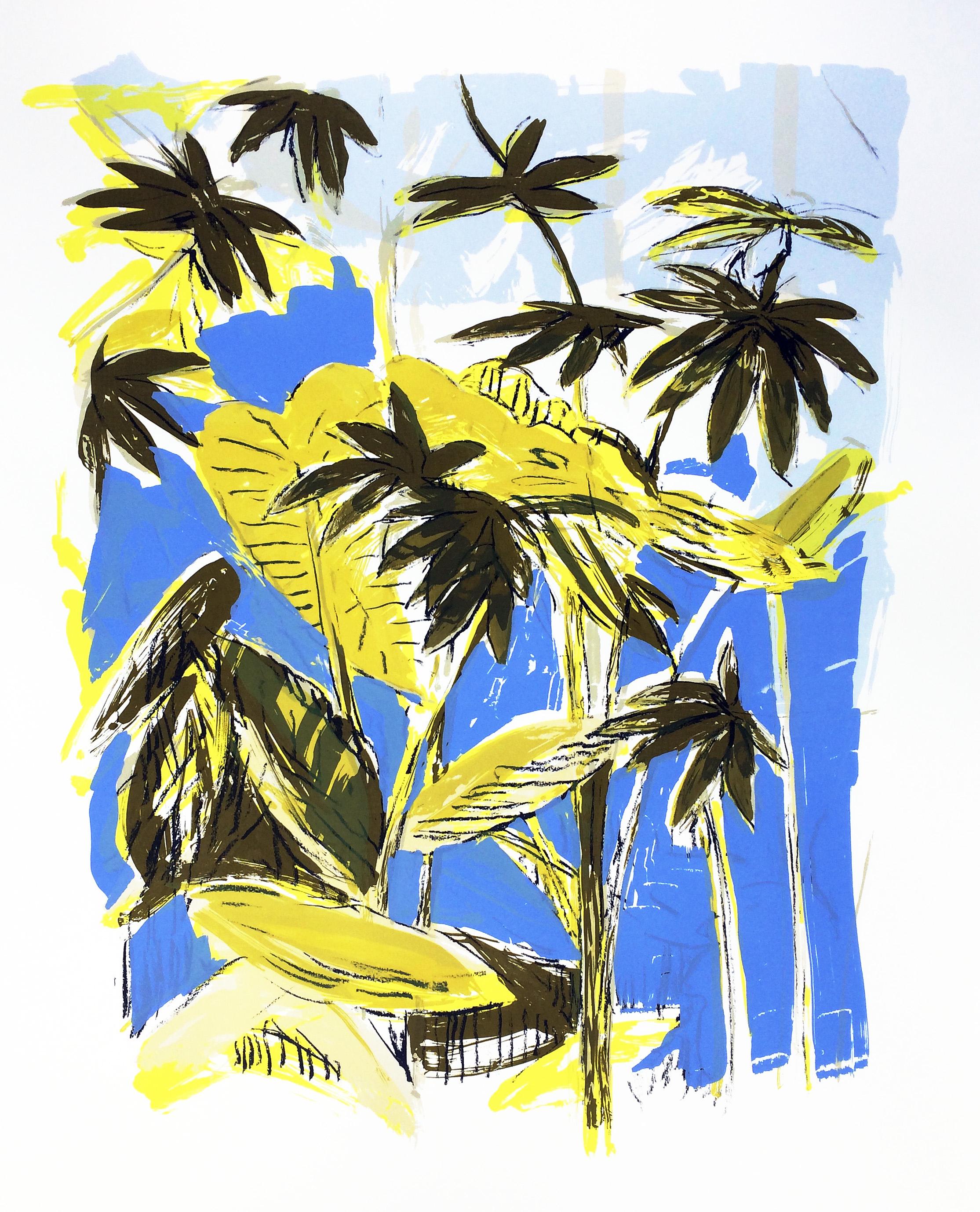 Artwork - Tropical Corridor screenprint Print | Stephen Robson | Buy Today! - screenprint